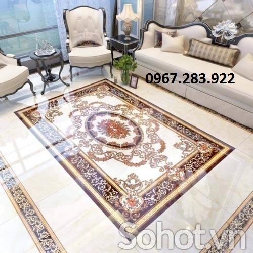 Thảm gạch- Thảm 3D trang trí phòng khách