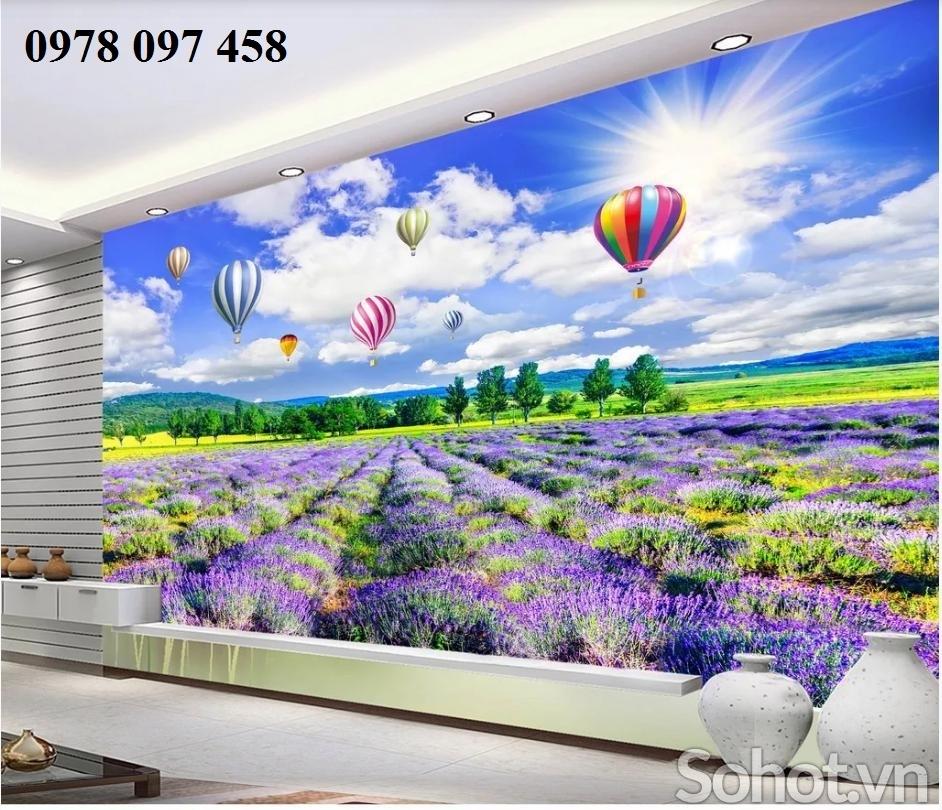 Tranh gạch 3D - tranh vườn hoa