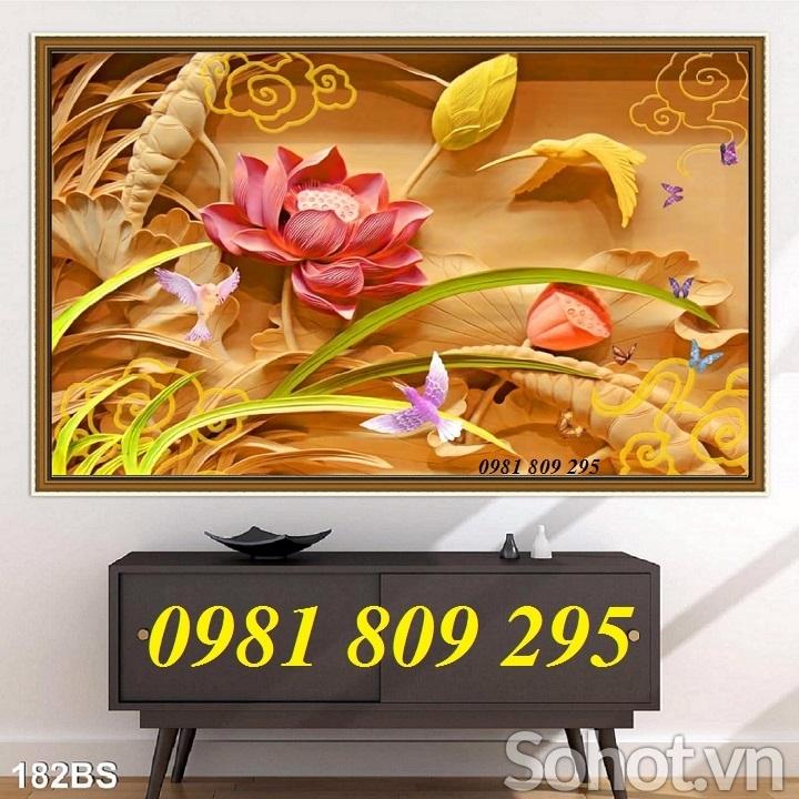 tranh gạch 3d - gạch tranh 3d hoa sen