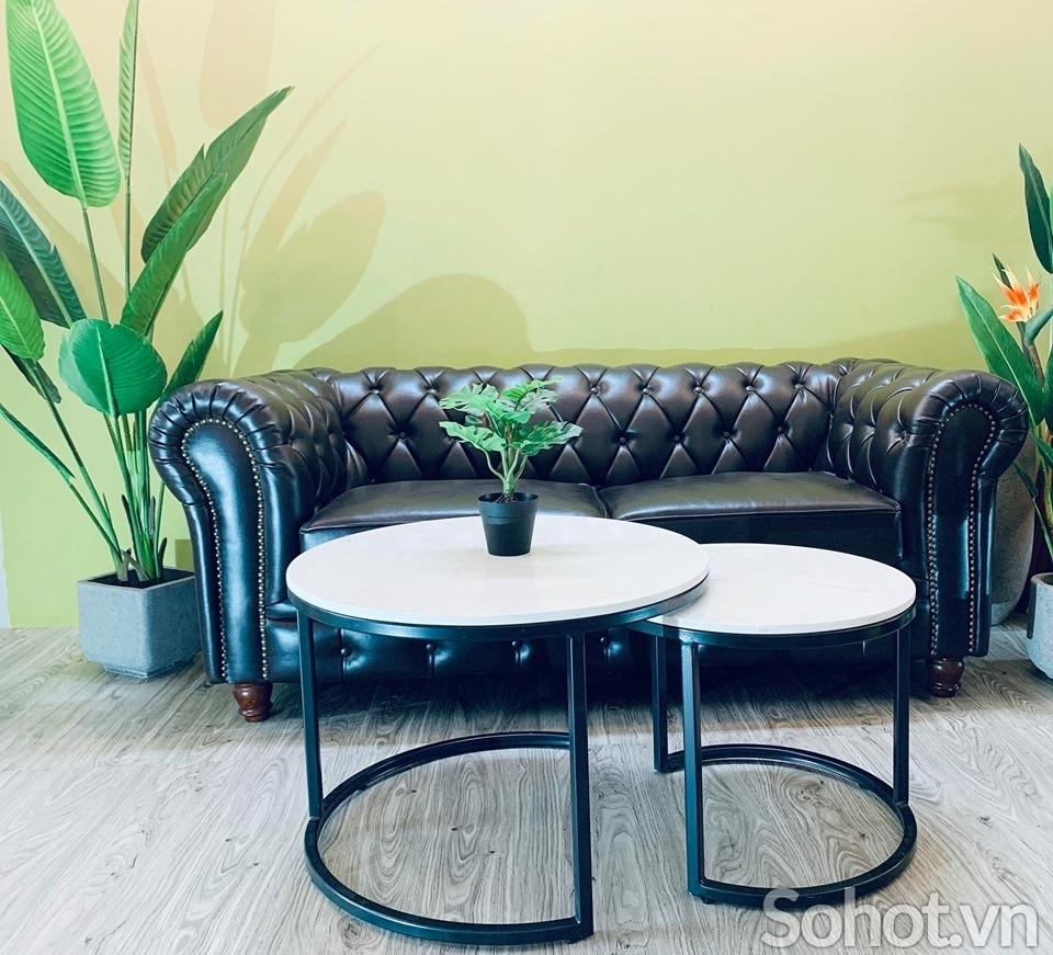 Cặp bàn sofa chân sắt sơn tĩnh điện
