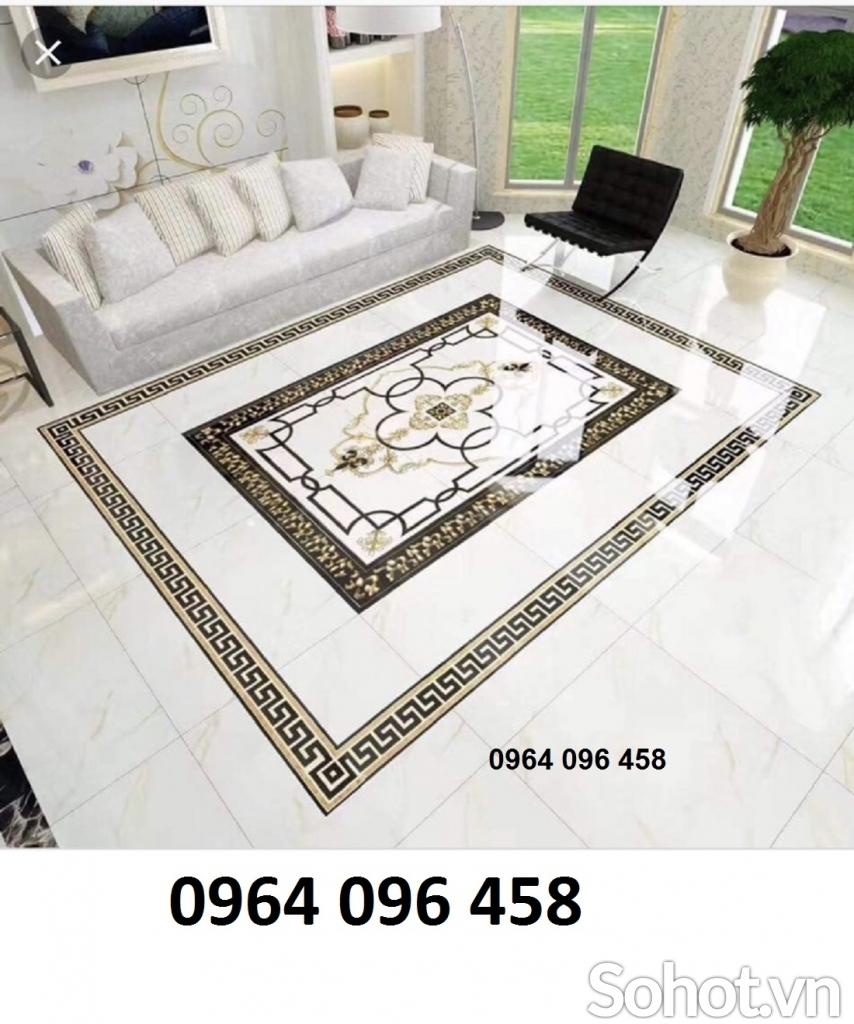 gạch thảm lát nền 3d phòng khách - gạch thảm ánh kim