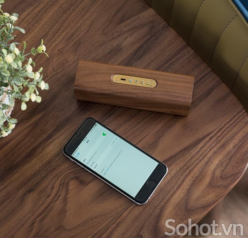 Loa Bluetooth gỗ óc chó