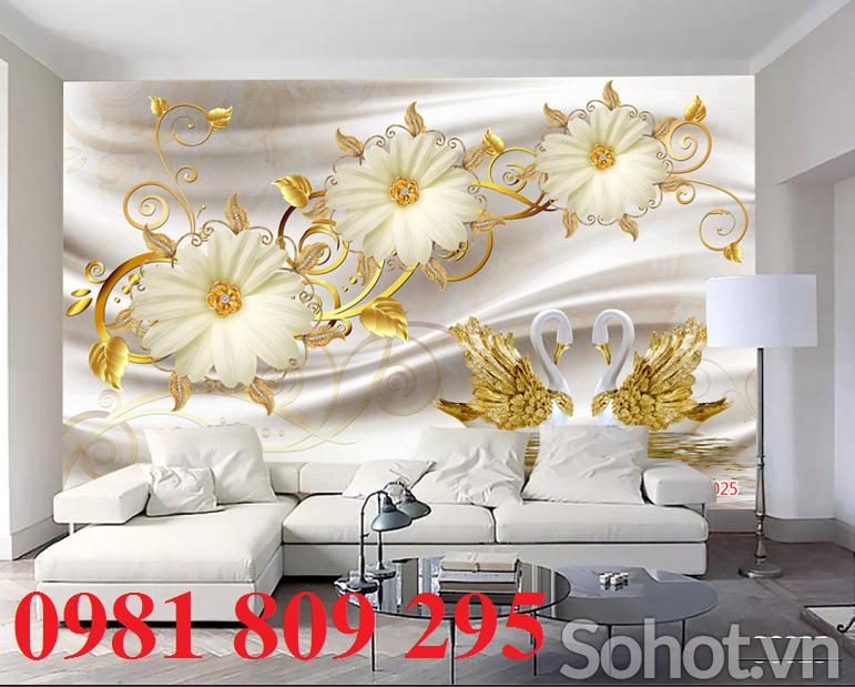 Tranh gạch phòng khách-Tranh 3D phong cảnh trang trí