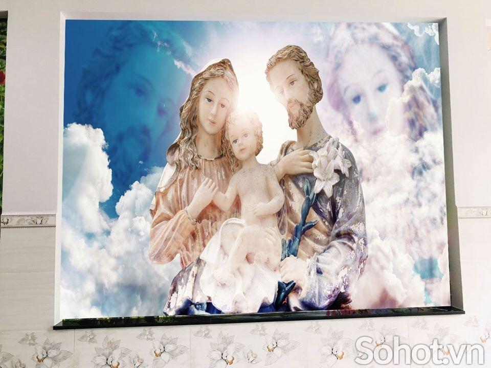 Gạch tranh 3d Công Giáo-tranh phòng khách