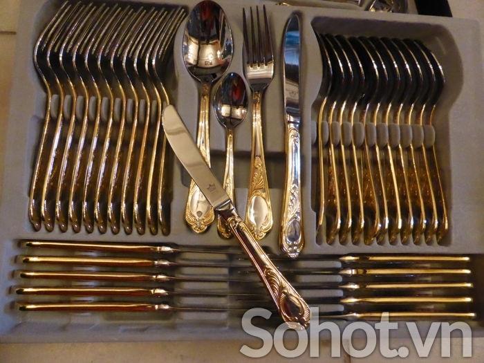 Dao,nĩa mạ vàng SBS Đức