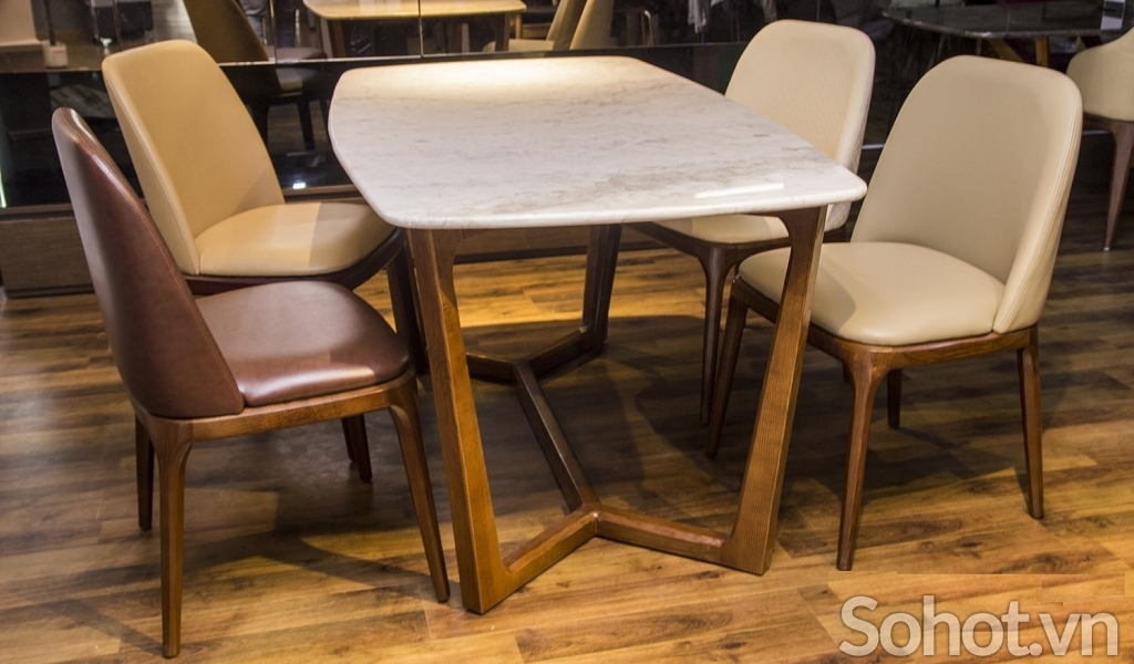 Bộ bàn ăn Concorde 4 ghế gỗ ash