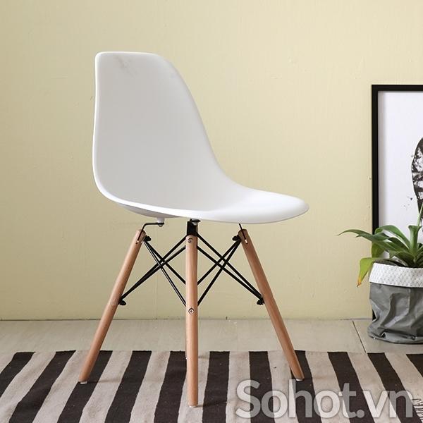 Ghế Eames nhựa chân gỗ beech