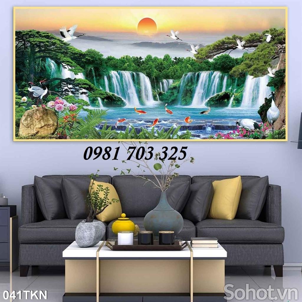tranh gạch ốp tường, tranh 3D phong cảnh