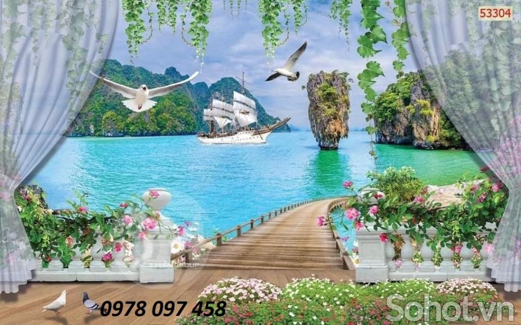 Tranh gạch thiên nhiên đẹp