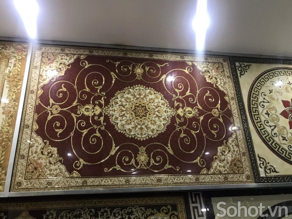 Gạch thảm lát sàn-thảm gạch phòng khách