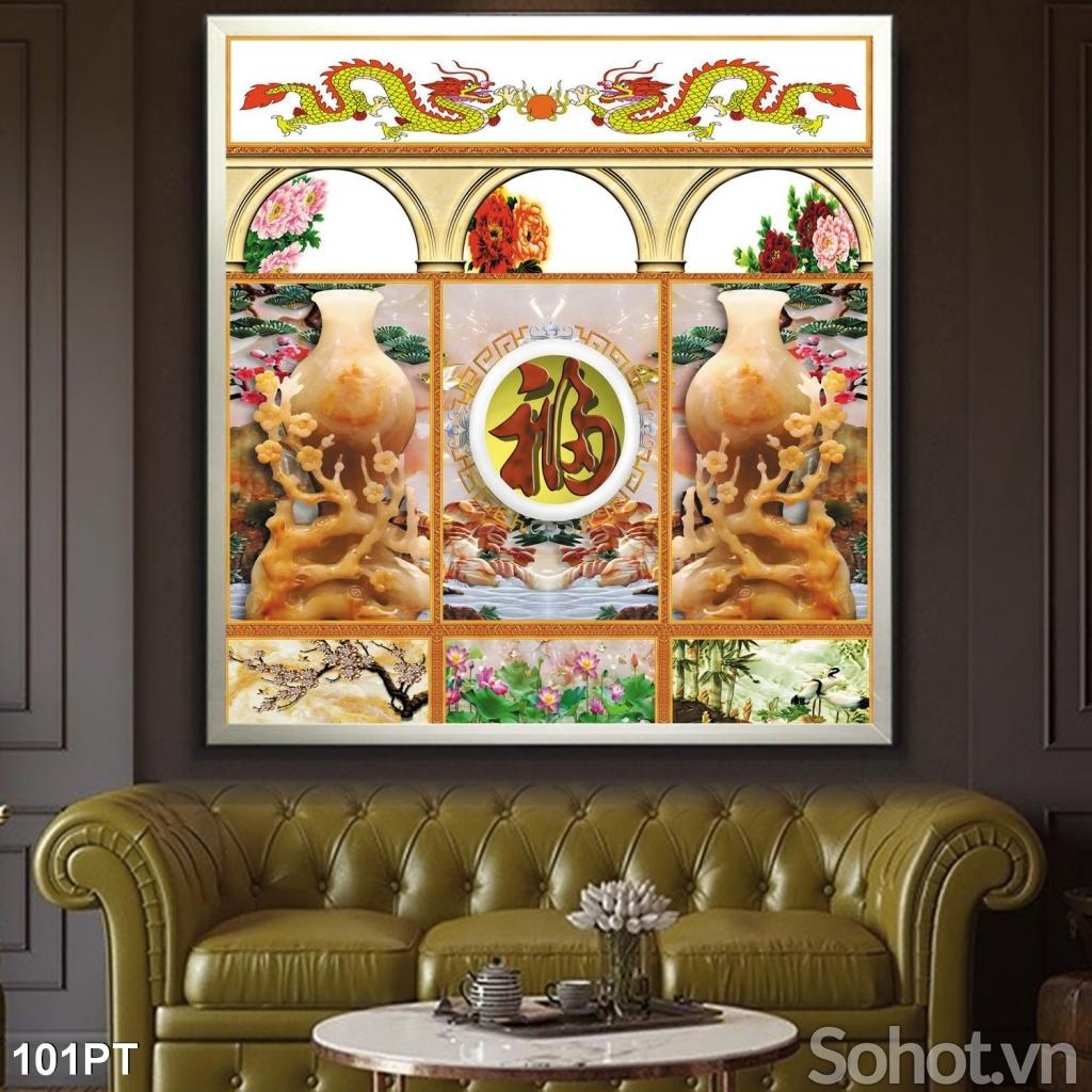 Tranh gạch ốp tường- Tranh gạch trang trí phòng thờ