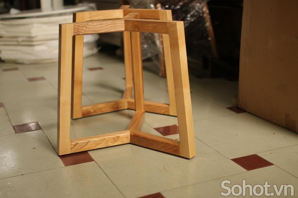 Chân bàn sofa gỗ sồi