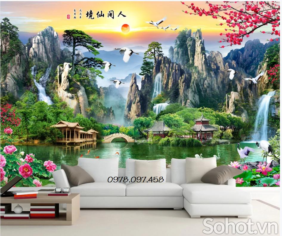 tranh phong cảnh phòng khách