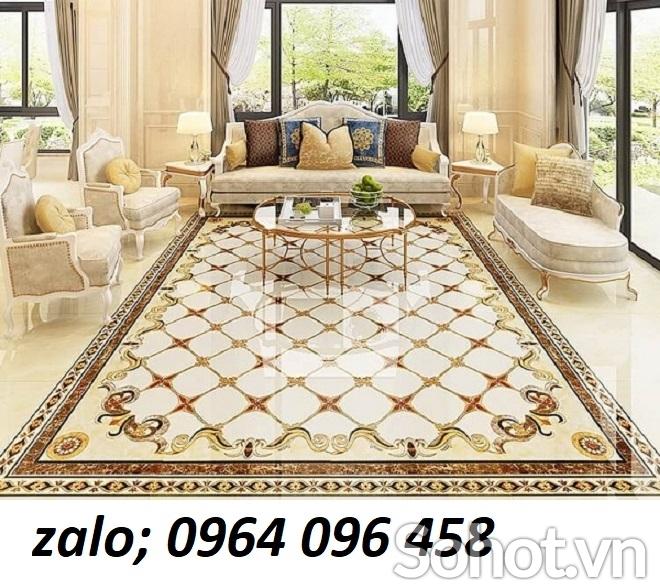 Mẫu gạch thảm lát nền phòng khách đẹp - 898C