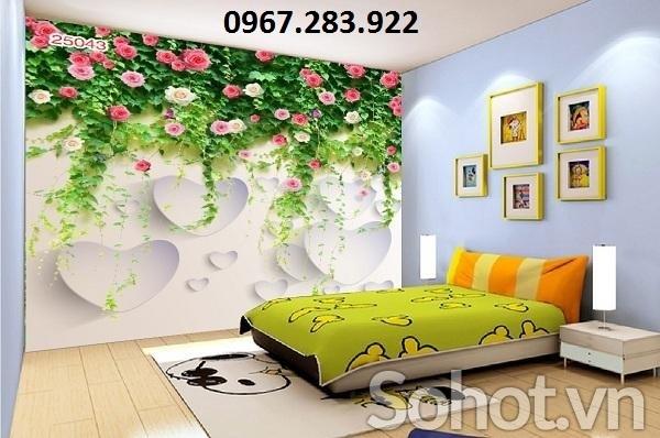 Tranh trang trí phòng ngủ 3D cao cấp