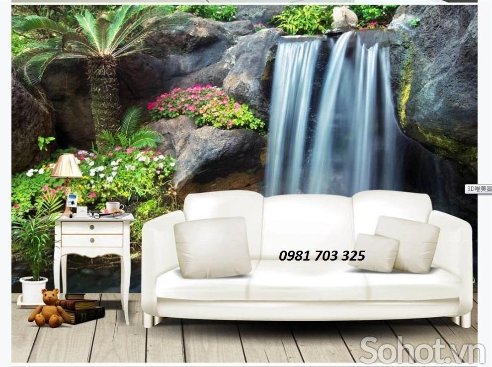 Tranh gạch men phong cảnh trang trí phòng khách