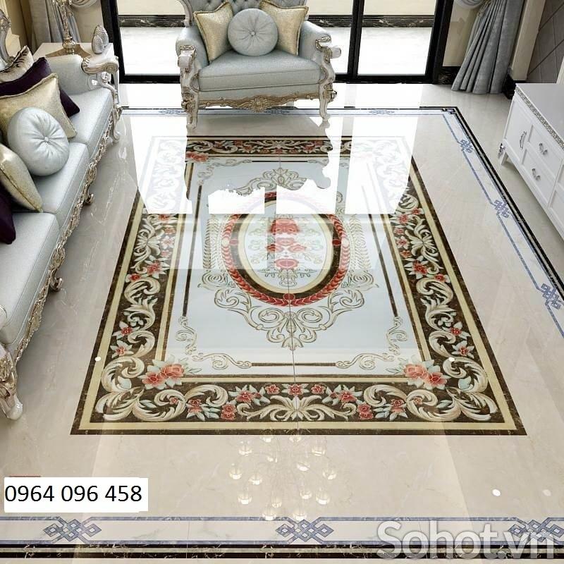 thảm tranh 3d phòng khách