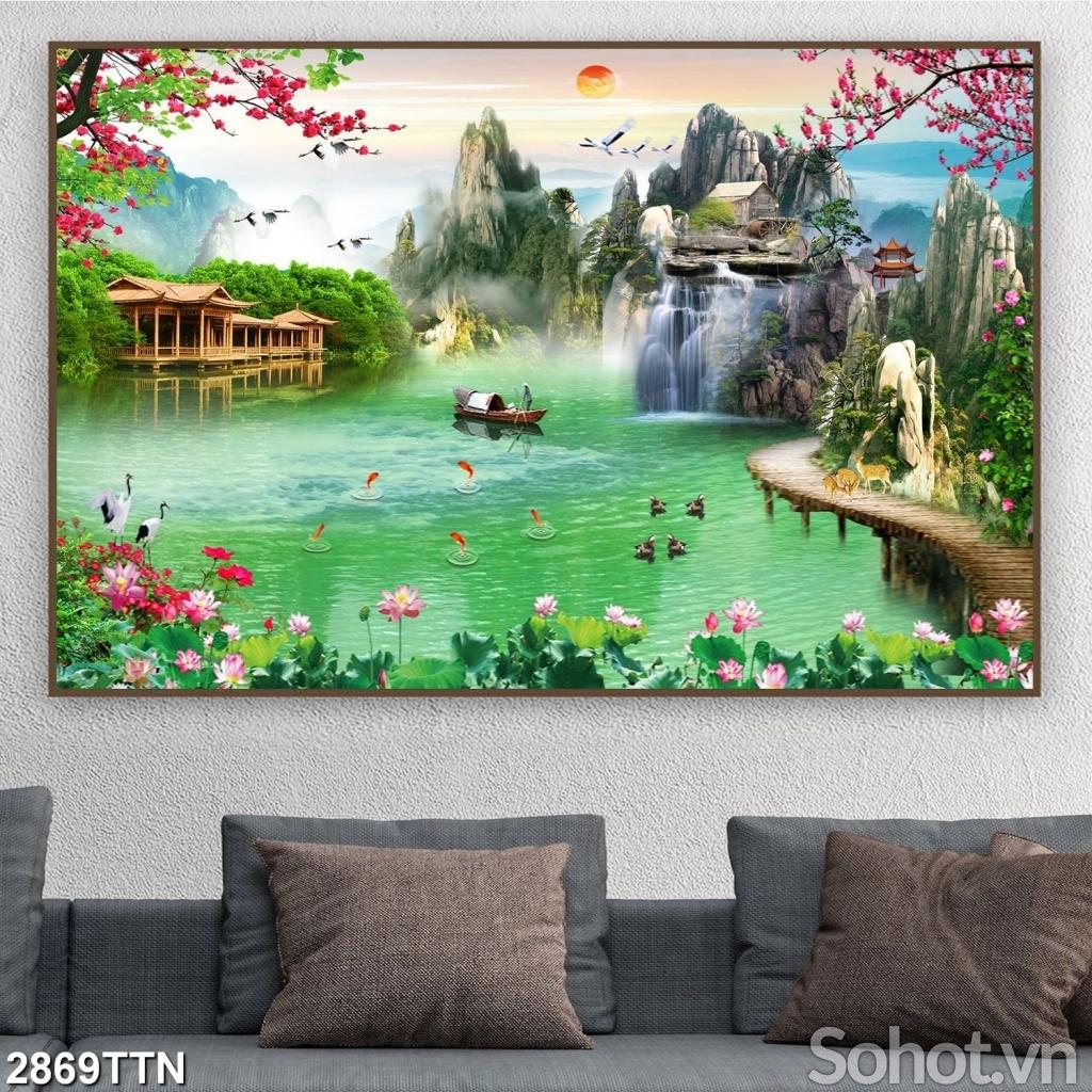 Tranh dán tường phong cảnh đẹp- Tranh gạch