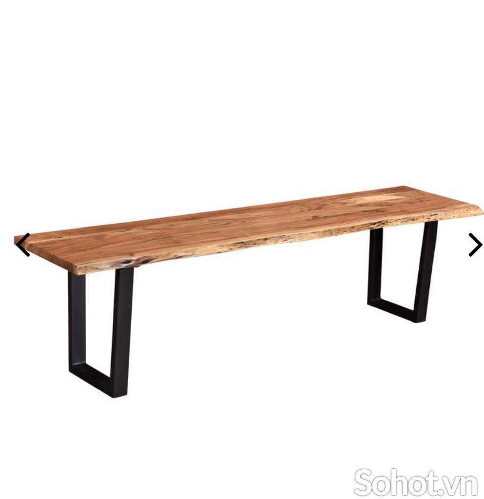 Ghế băng gỗ tràm chân sắt 1m2