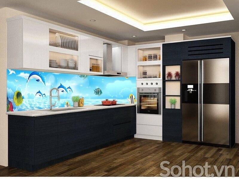 Kính bếp 3d Đại Dương, tạo cảm hứng sáng tạo cho những món ăn