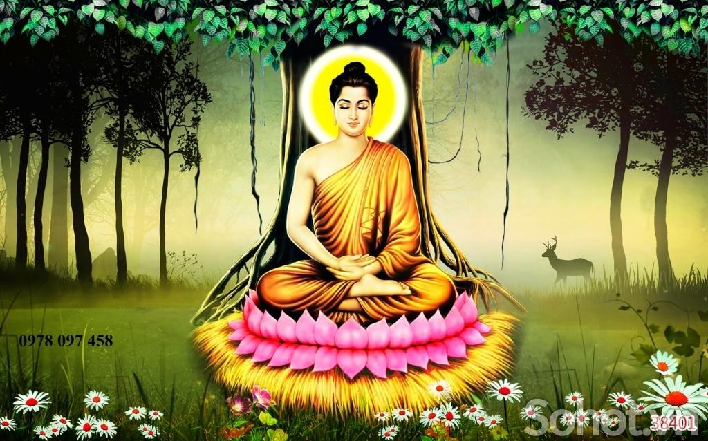 Tranh gạch - tranh Đức Phật