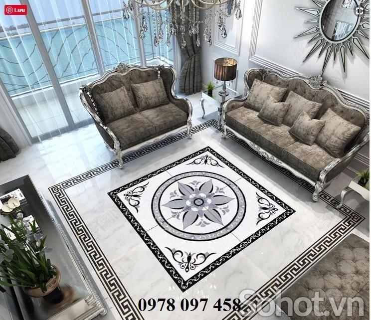 Thảm gạch lát sàn - lát nền phòng khách