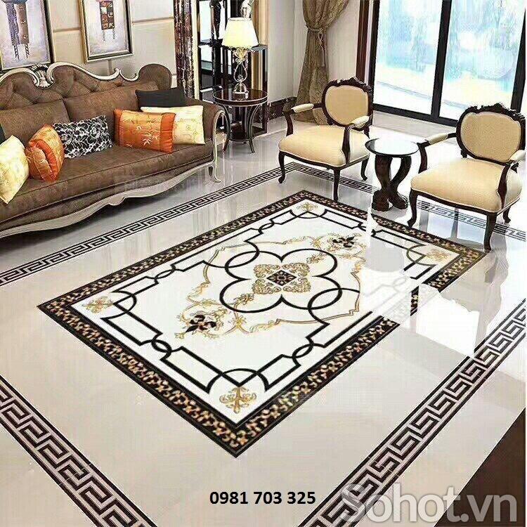 gạch lát nền phòng khách- gạch thảm trang trí