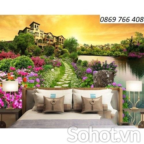 Tranh phong cảnh-Tranh gạch phòng ngủ