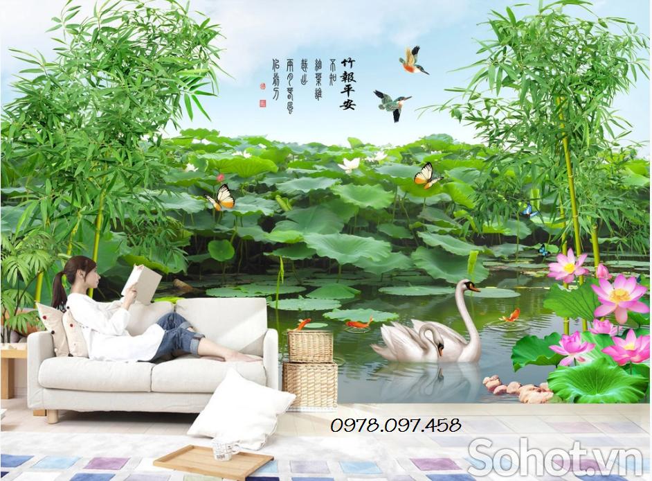 mẫu tranh phong cảnh trang trí đẹp