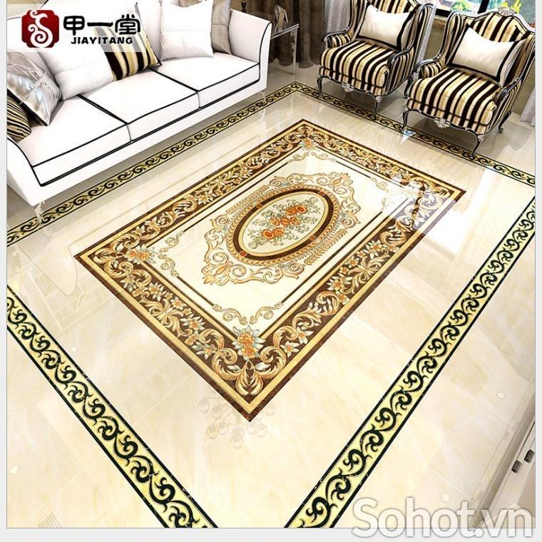 Thảm gạch 3D ốp sàn- thảm trang trí
