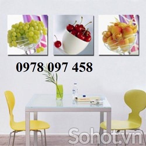Tranh gạch phòng ăn -