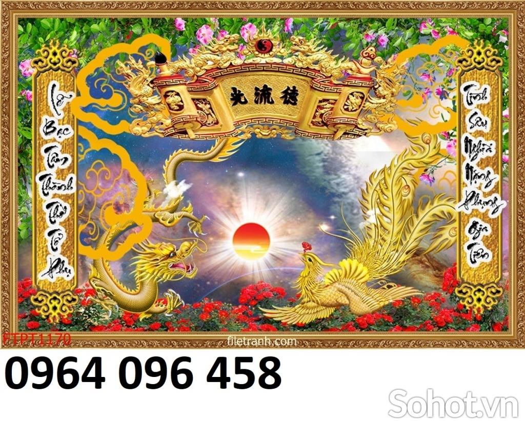 Tranh 3d - tranh gạch 3d trang trí phòng thờ - 64DL