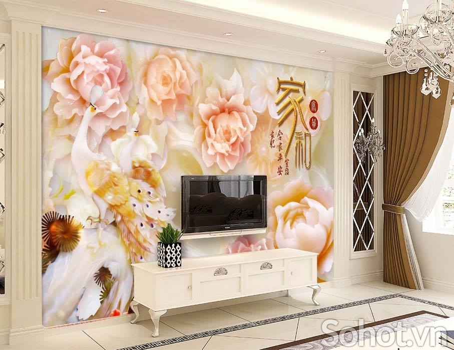 tranh gạch men 3d phòng khách - CN56