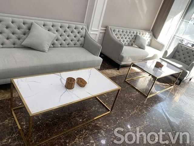 Bàn sofa chữ nhật mạ vàng HX3 1m2-60