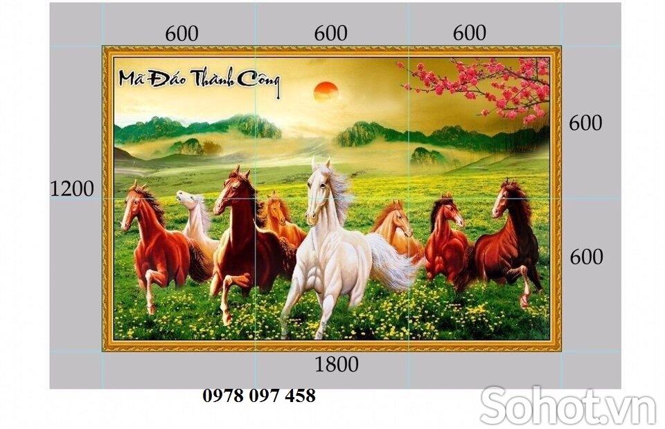 Gạch tranh - tranh ngựa