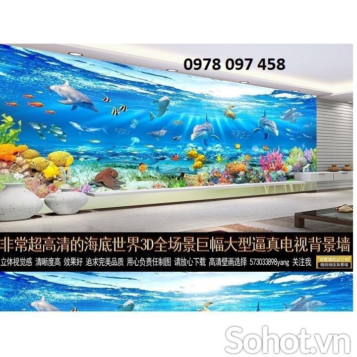 Tranh gạch 3D - tranh cá