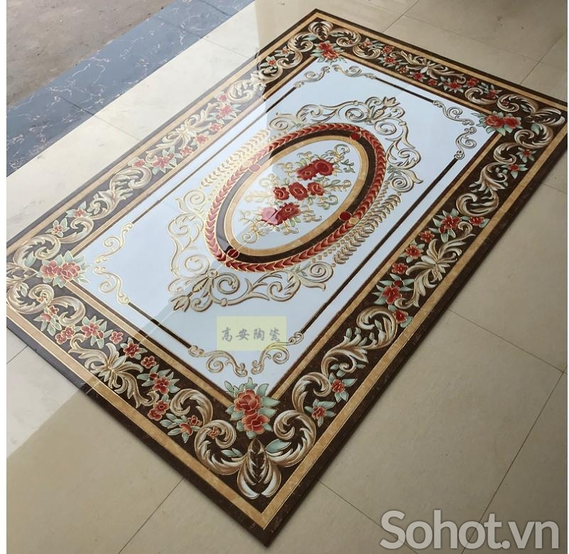 gạch tranh thảm - gạch tranh 3d - gạch thảm 3d