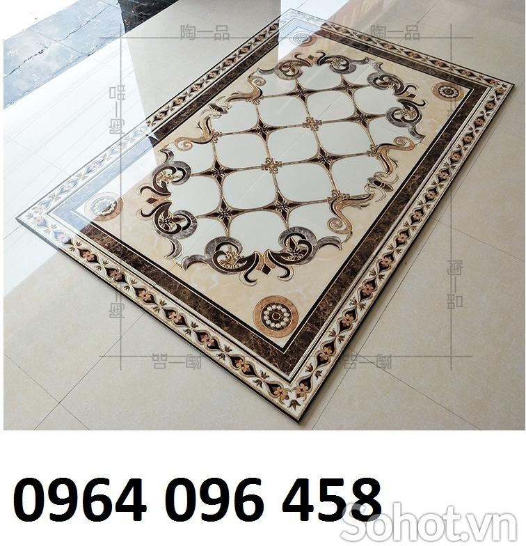 Gạch lát nền phòng khách - gạch thảm trang trí - 098DP