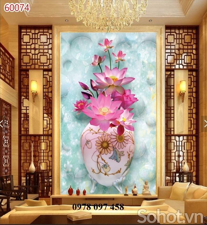 Tranh gạch - tranh bình hoa 3D