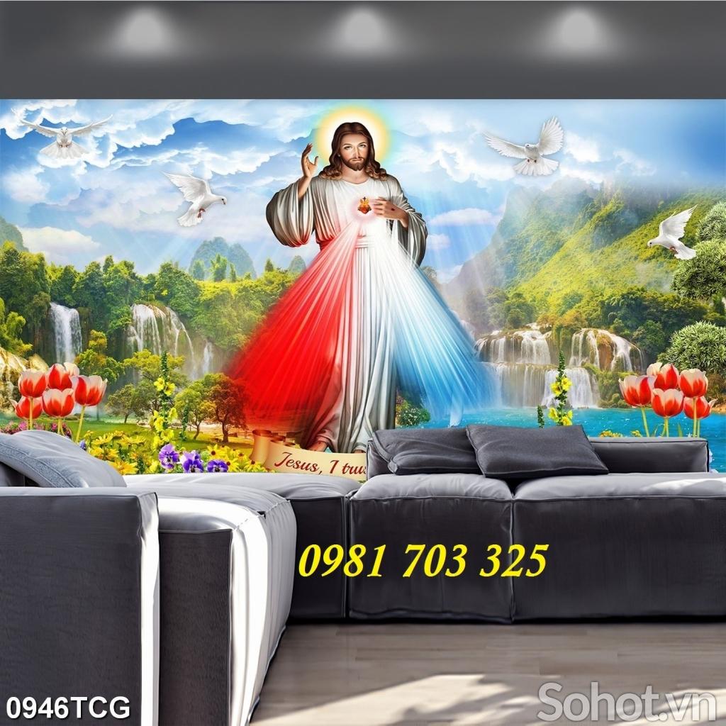 tranh công giáo, tranh gạch men 3D