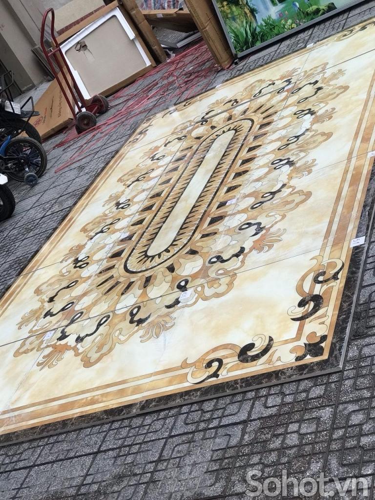 Gạch thảm 3D-Thảm gạch phòng khách
