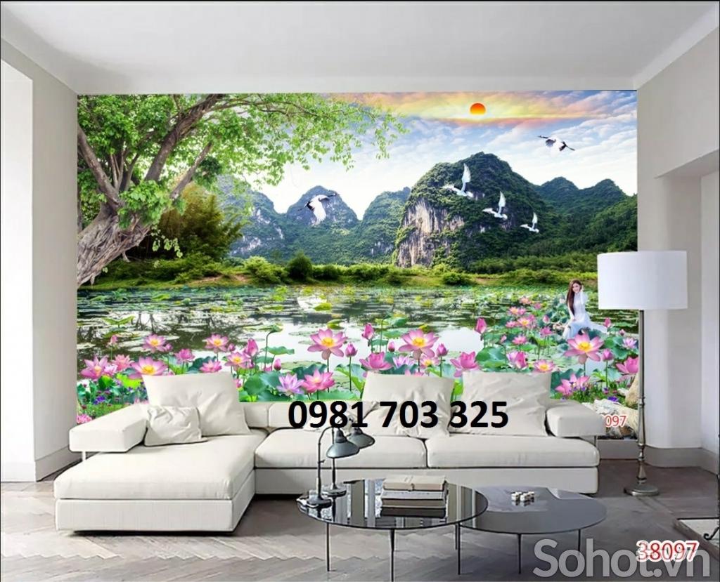 Tranh gạch- gạch tranh phong cảnh