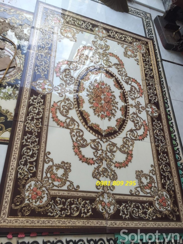gạch thảm hoa văn lát nền nhà sang trọng