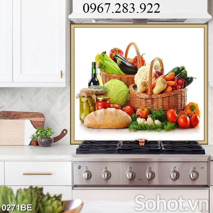 Tranh hoạ tiết hoa quả trang trí bếp