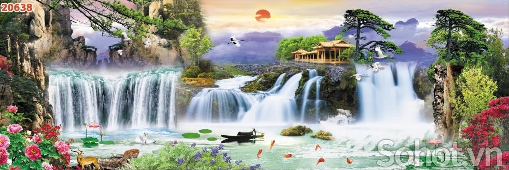 Kính bếp 3d Phong Cảnh, hòa mình THƯ GIÃN cùng thiên nhiên cây cỏ