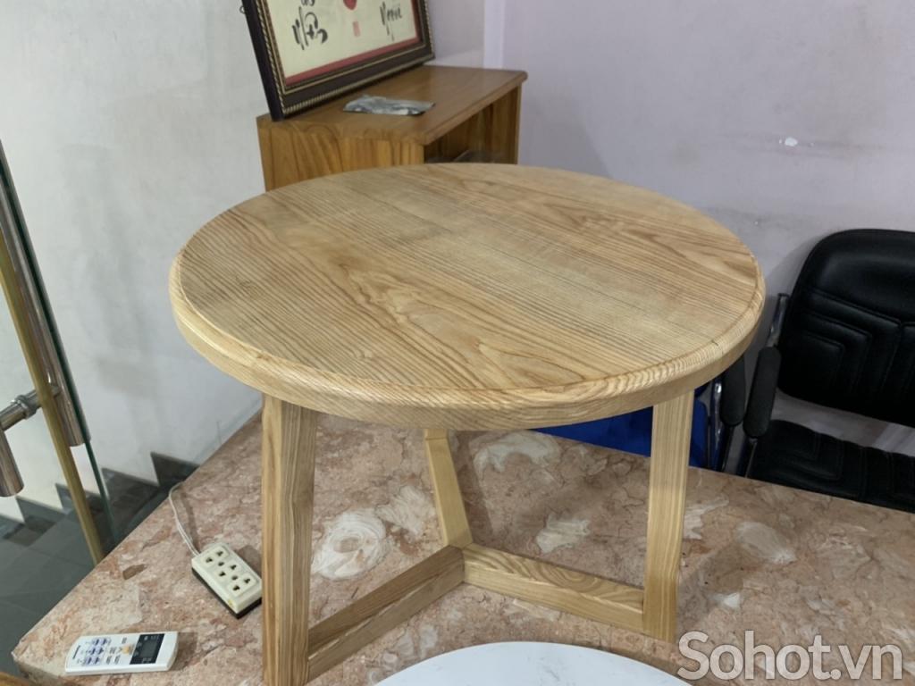 Bàn trà sofa gỗ Ash D=60