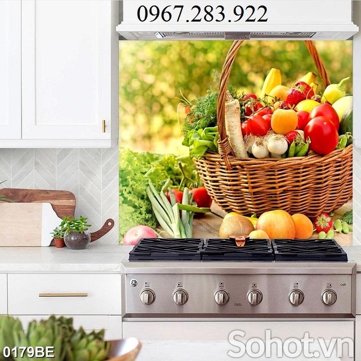 Tranh phòng bếp hoạ tiết hoa quả 3D