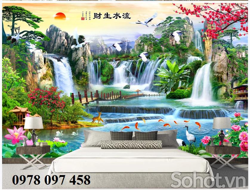 Tranh gạch 3D trang trí phòng khách - tranh phong cảnh
