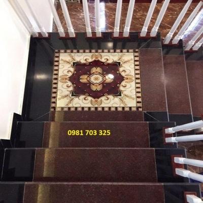gạch lát cầu thang- gạch thảm khắc kim