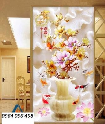 Tranh gạch 3d bình hoa sứ ngọc - 545XP